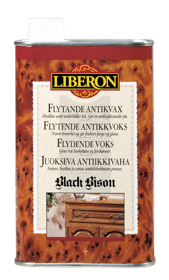 Liberon black bison antikkvoks flytende